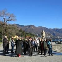 Reisegruppe im Park der Villa Olmo Como